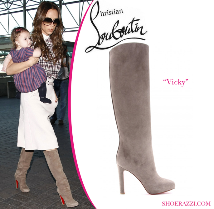 bcf15b28dae the style depot » Christian Louboutin Suede Vicky Boots